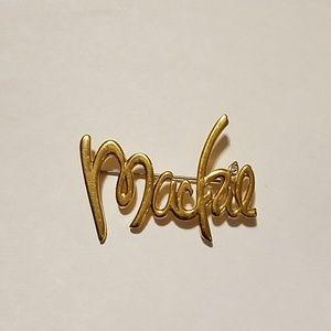 Vintage Bob Mackie Signature Logo Brooch Pin